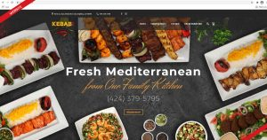 Website design for Kebab Bar, created by Navazon Digital.