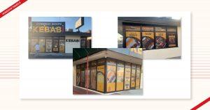 Window panel designs done for Kebab Bar by Navazon Digital.