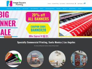 Screen Grab of Image square printing website