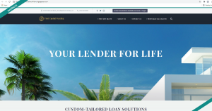 first capital funding website design