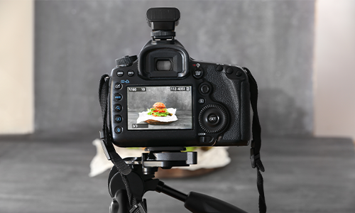 behind the scenes of food photography.