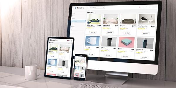 Responsive ecommerce shopping cart design